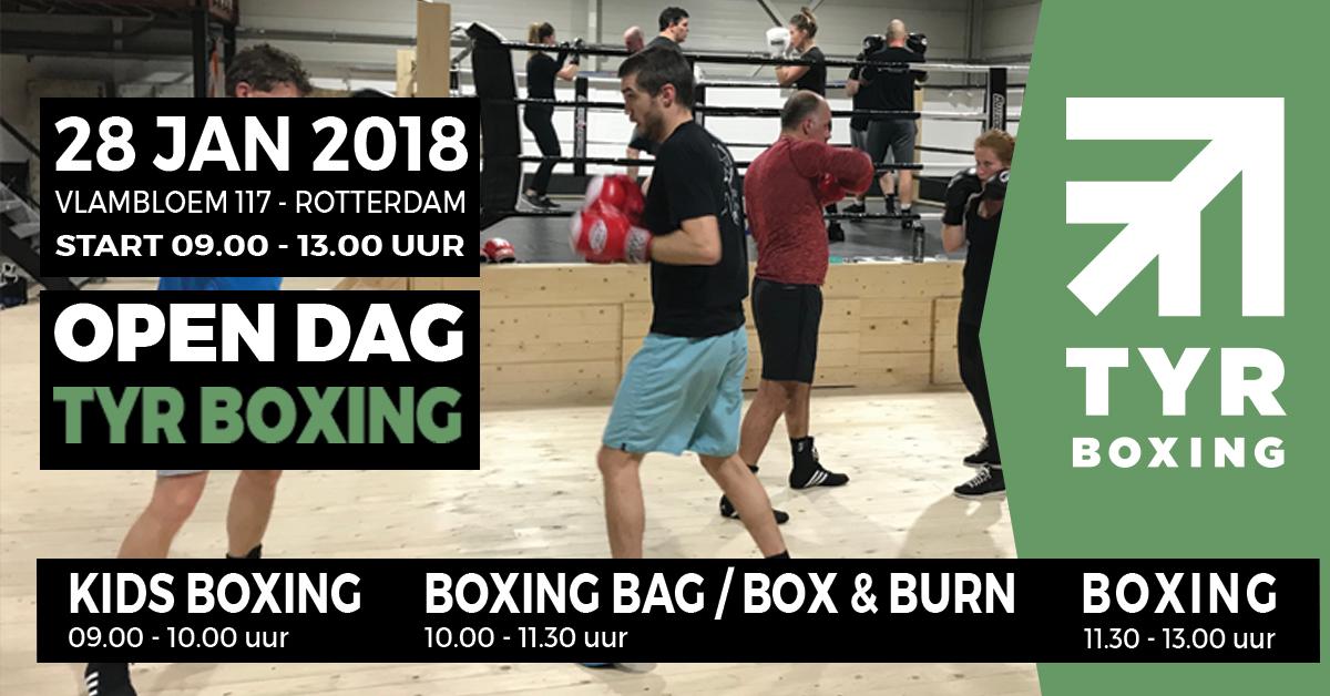 Open dag TYR Boxing op zondag 28 januari