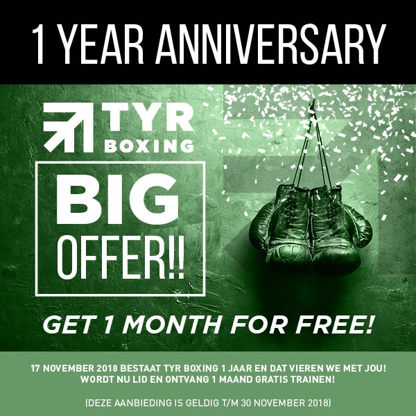 One year anniversary!! Word lid en krijgt 1 maand gratis!