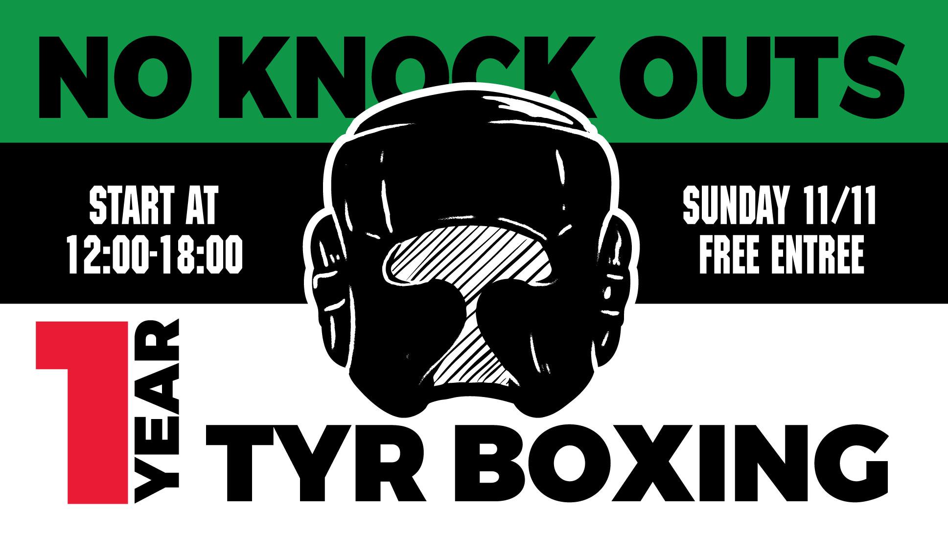 1 jaar TYR Boxing & No Knock outs!! Kom jij ook?